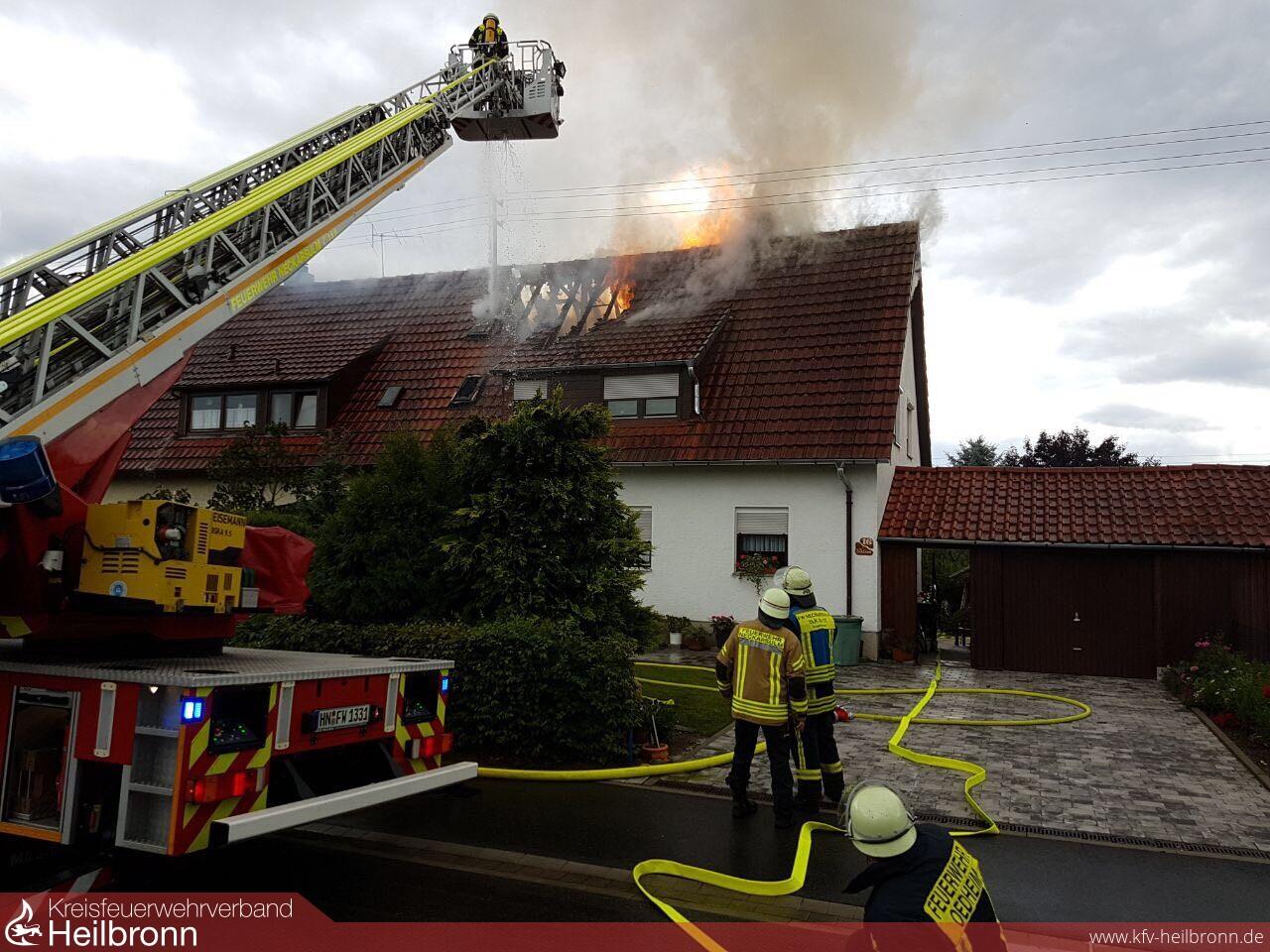 Kreisfeuerwehrverband Heilbronn Einsätze Blitzeinschlag