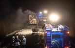 Gefahrgut-Sattelzug brannte
