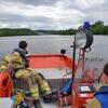 Ein Segelboot in Seenot auf dem Neckar